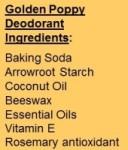 Golden Poppy Ingredients
