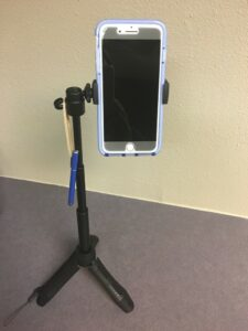 iPhone on Stand